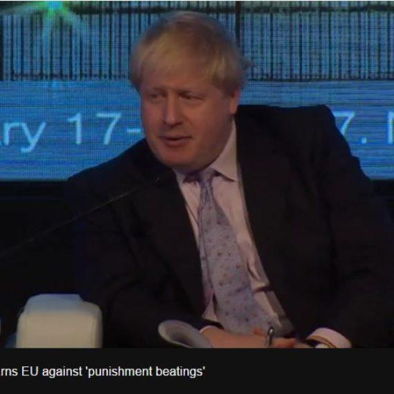 Brexit: Boris Johnson warns against 'punishment beatings'
