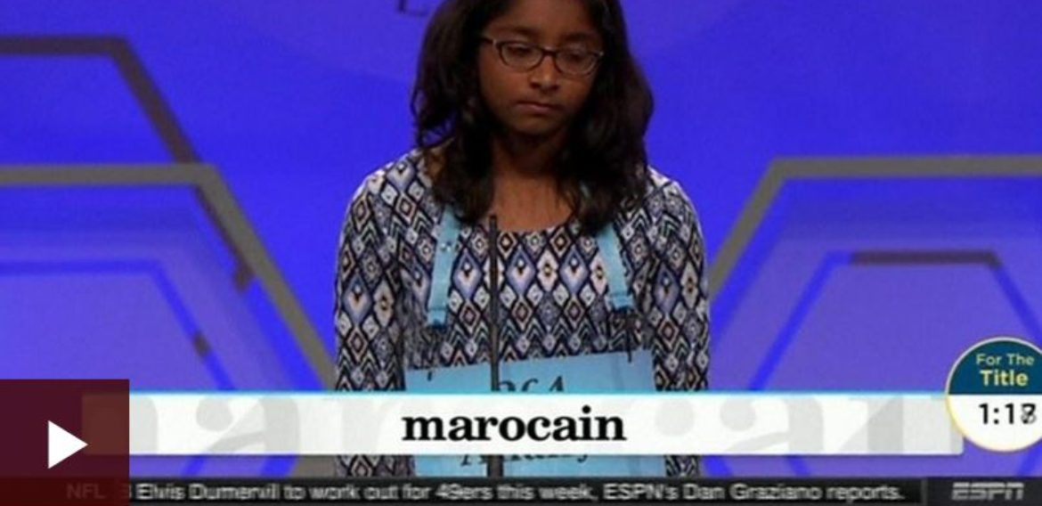 Ananya Vinay, 12, wins US spelling bee with 'marocain'