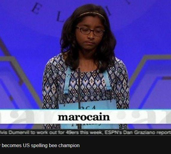 Ananya Vinay, 12, wins US spelling bee with 'marocain'