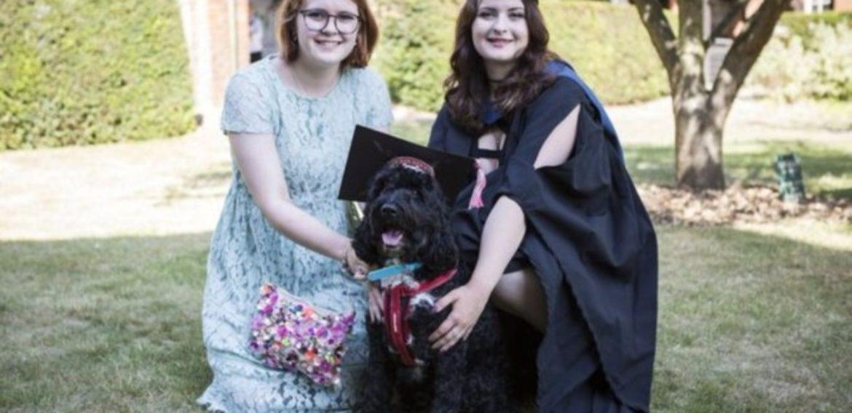 Boris the dog makes student's graduation dream come true