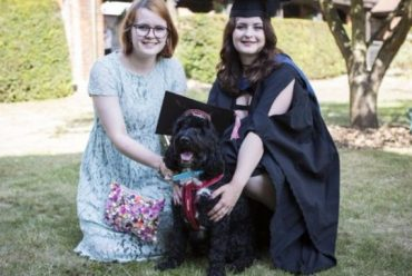 Boris the dog makes student's graduation dream come true